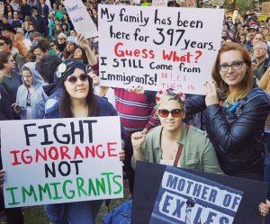 Hannah Tutak travel ban protest