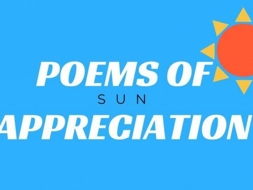 Poems Of Appreciation: Sun